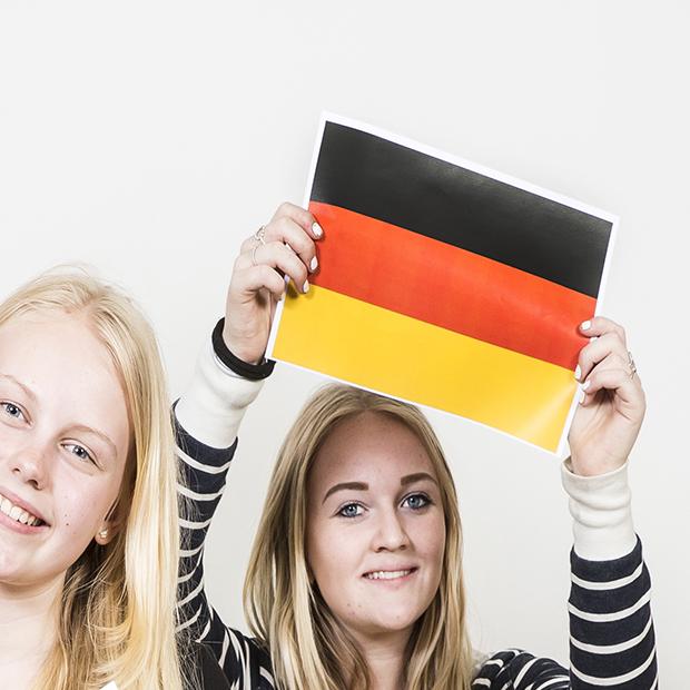 Tysk hold. Billede af Tysklands flag